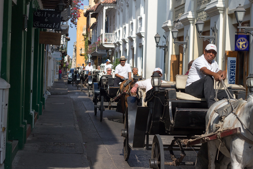 hevoskärryt, Cartagena, Kolumbia