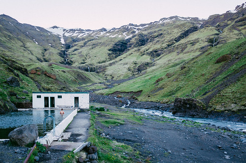 hot film water pool island iceland spring south gr ricoh seljavallalaug vsco