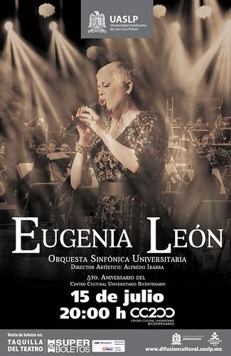 Eugenia León y la Orquesta Universitaria en el 5to aniversario del CC200