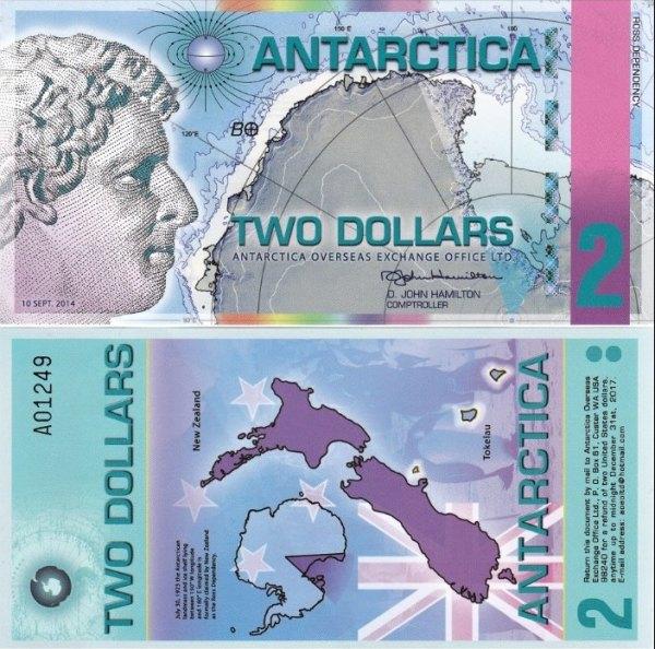 2 Doláre Antarktída 10.9.2014 polymer