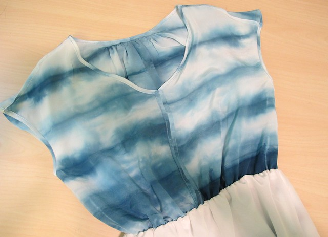 Vogue 1395, hand-dyed silk