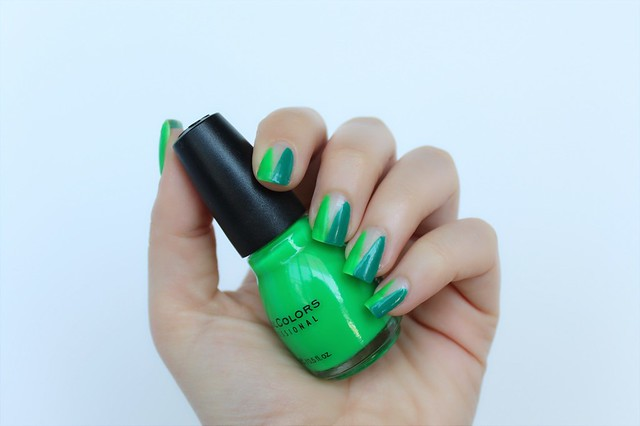 Green Negative Space Nails