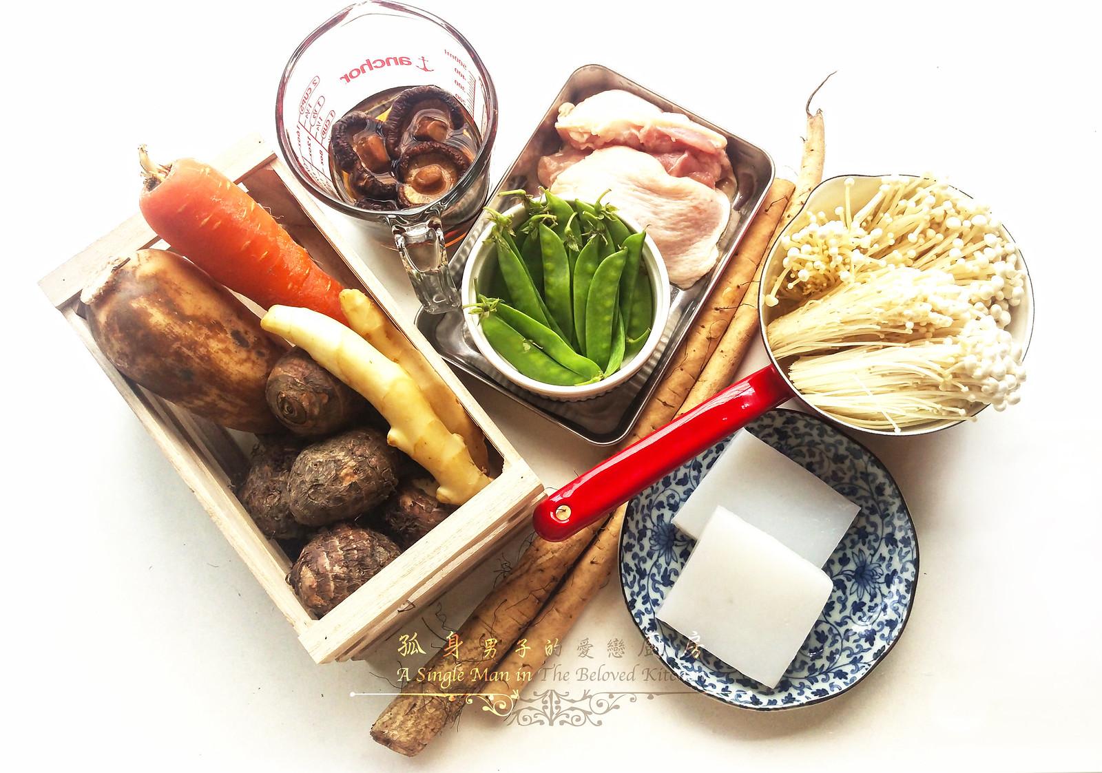 孤身廚房-食譜書《常備菜》試作——筑前煮、醬煮金針菇。甜滋滋溫暖和風味1