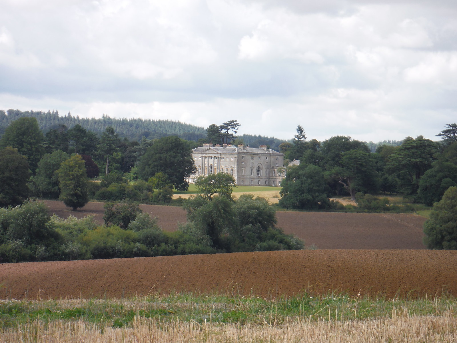New Wardour Castle from The Hanging SWC Walk 252 Tisbury Circular via Donhead St. Andrew