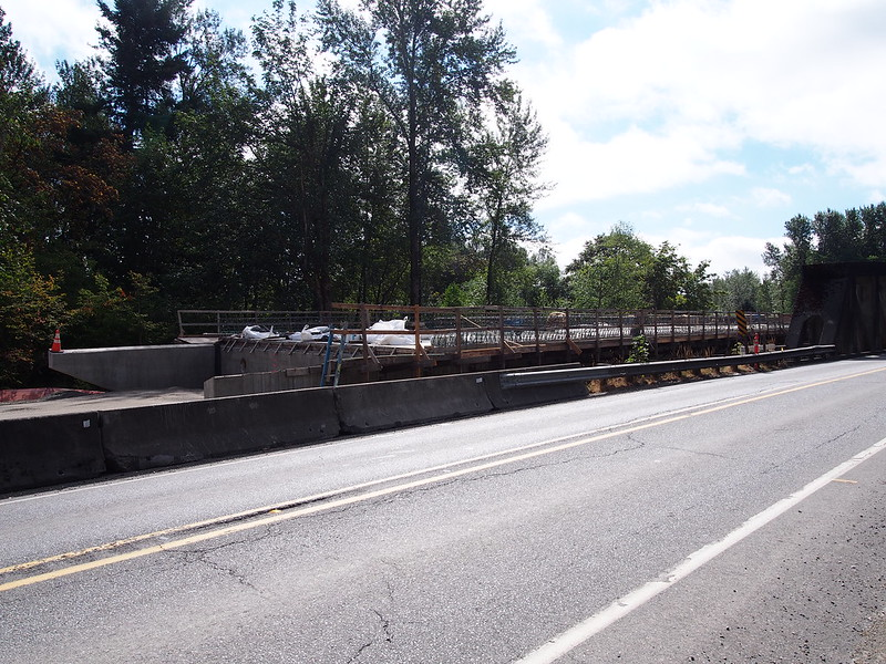 Replacement SR-162 Puyallup River Bridge: The old bridge is in rather poor shape, so they're replacing it.