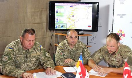 Канадські військовослужбовці проінспектували ситуацію в зоні АТО