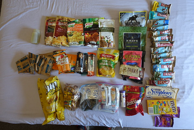 Food for six days on the PCT