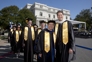 USC President C. L. Max Nikias and Menlo School Head of School Than Healy
