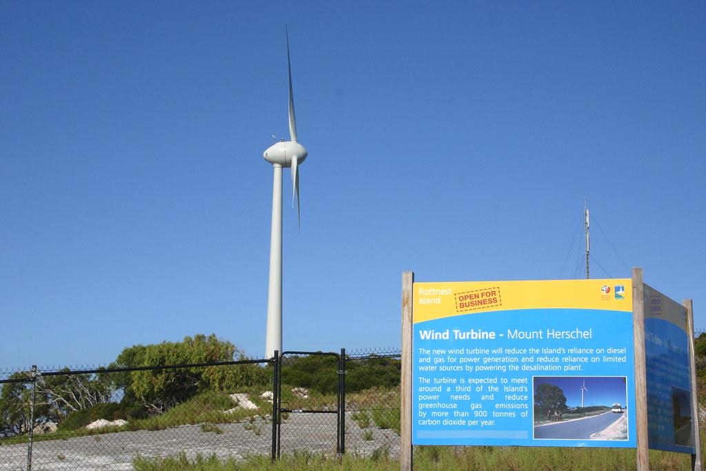 Up close: Mount Herschel wind turbine, Rottnest Island