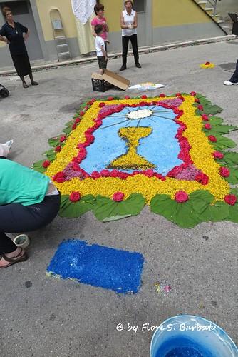 San Fele (PZ), 2015, Infiorata per il Corpus Domini.