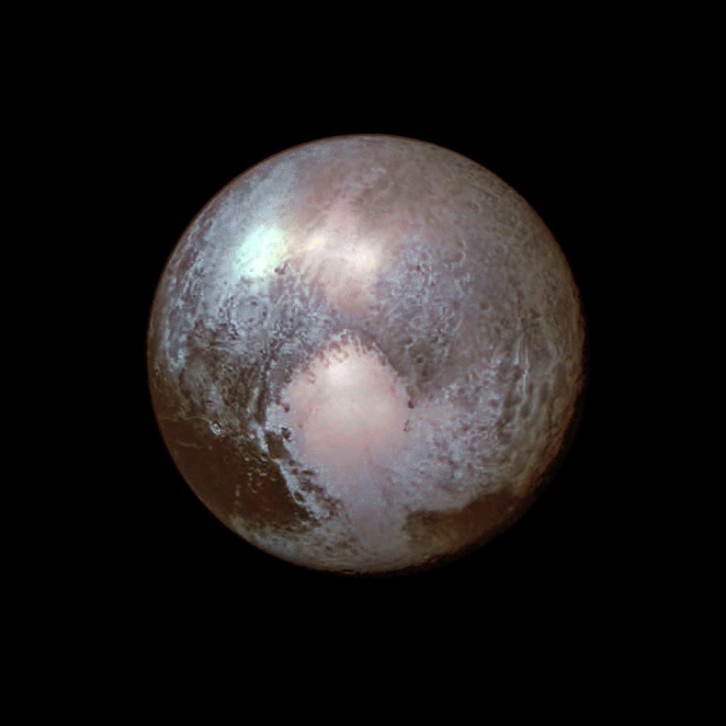 Pluto LORRI (re-processed) 13 July, 2015