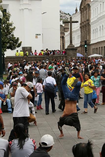 Plaza Grande.  Quito, Ecuador.