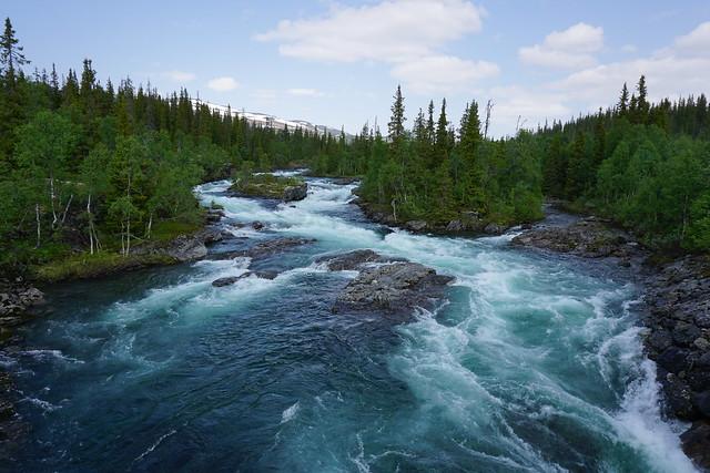 Gaustaälven rapids near Leipikvattnet & Stekenjokk