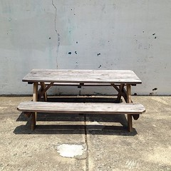bench, furniture, wood, coffee table, table,