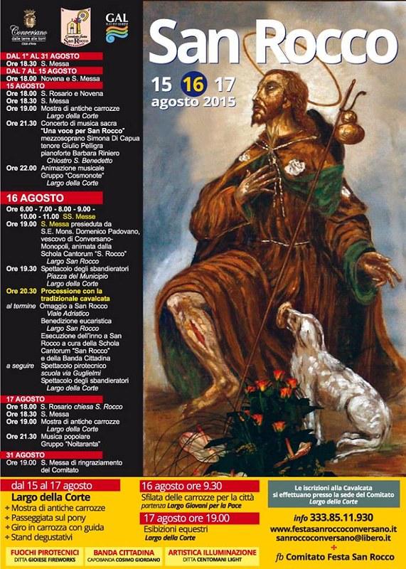 Conversano- Comitato Festa San Rocco Programma completo