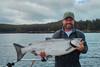 Showing off a beautiful Langara Island Chinook salmon