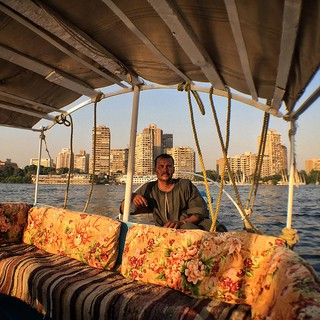 Captain Mohamed poses on a cruise boat on the Nile River i… | Flickr
