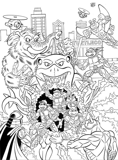 TEENAGE MUTANT NINJA TURTLES ADVENTURES Archives Vol. 10; Inks - Pencils by Steve Lavigne, inks by Ryan Brown (( 2015 ))