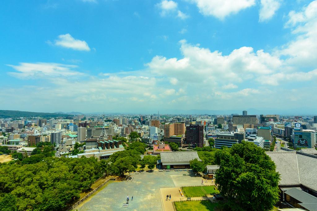 Panoramic View of  Kumamoto City
