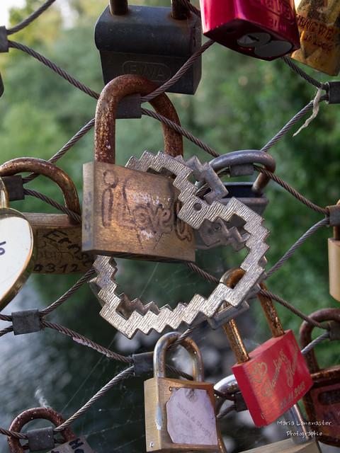 Liebesschlösser mit Herz