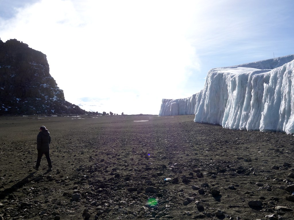 Top of the Western Breach and the Furtwangler Glacier