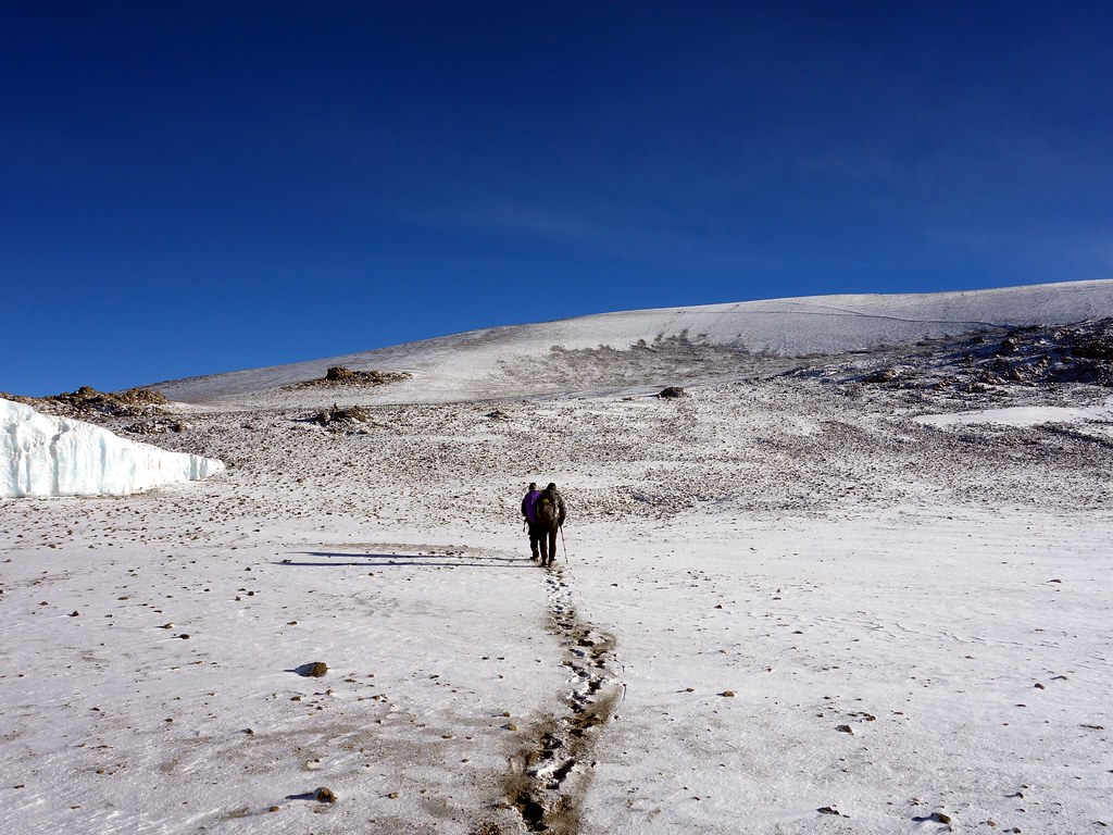 Leaving for the inner crater