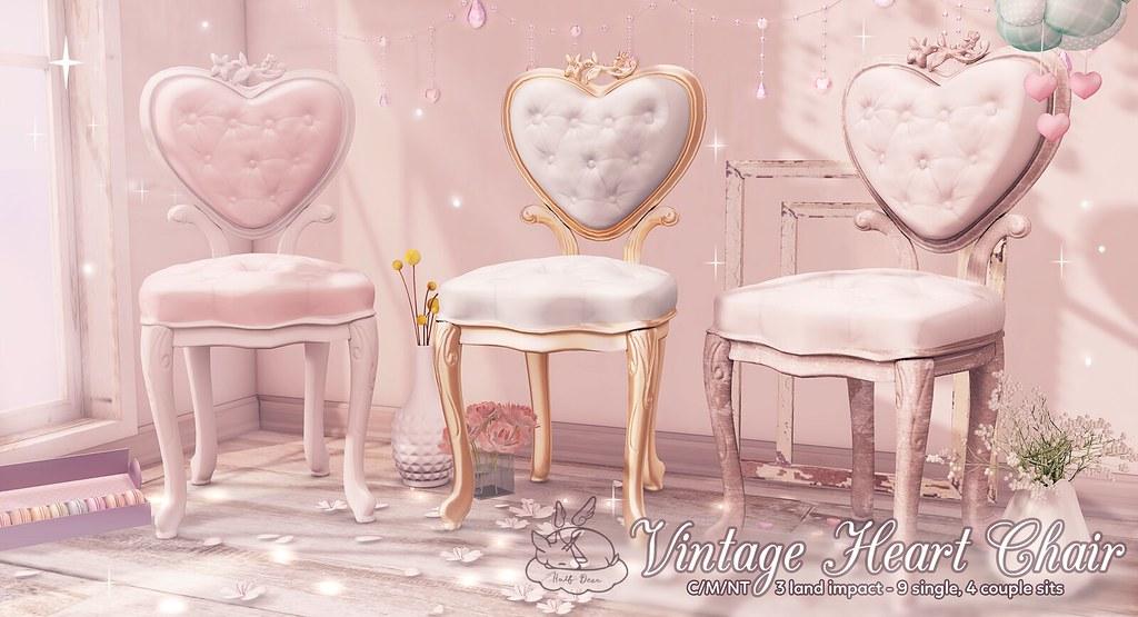 +Half-Deer+ Vintage Heart Chairs - SecondLifeHub.com