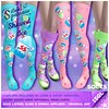 ~silentsparrow~ Festival Socks - Shaved Ice Coming Soon to Origami! (July 5th)