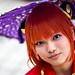 Red Hair Umbrella by Light J