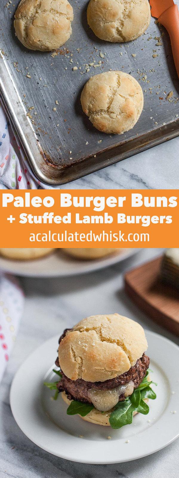 Stuffed Lamb Burgers + Paleo Burger Buns