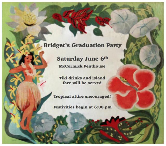 Bridget's Graduation Party Invitation