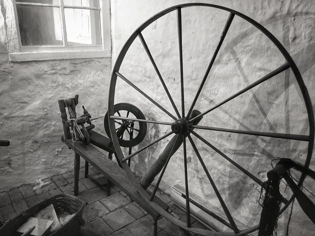 Spinning wheel at Ireland House in Burlington