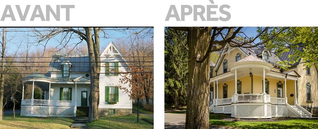 Exemple de rénovations en partie financées par le Programme de restauration du patrimoine immobilier de la Ville de Victoriaville