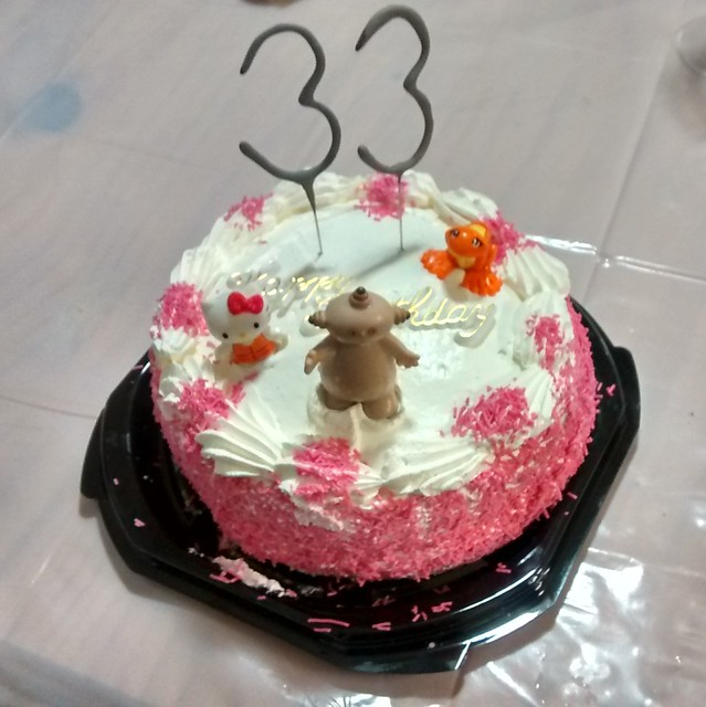 Birthday sponge cake with Makka Pakka, Hello Kitty, Orange Frog