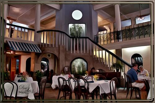 Image of the Alcazar Cafe using GREYCstoration on it