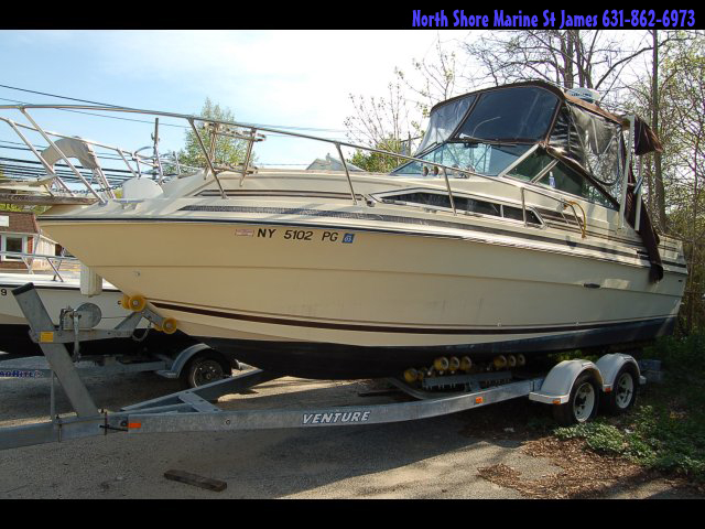 *****1983 Sea Ray Sundancer 245 ******NO Trailer......  Make OFFERS$$$$$  been must be checked out before going in water mechanically.....  T-470 (170HP) Mercruiser I/O Engines, Professionally Maintained. Much new, including Rebuilt Engines in 2002, Heads