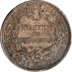 Lot 51045 FRENCH COCHIN CHINA. Piastre Essai, 1879-A reverse