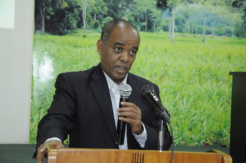 Dr. Getnet Assefa (EIAR) principal investigator of ACGG in Ethiopia (photo credit: EIAR/S. Yemane)
