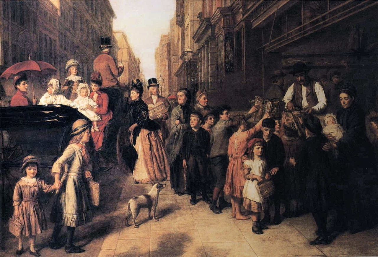 Poverty and Wealth by William Powell Frith, 1888
