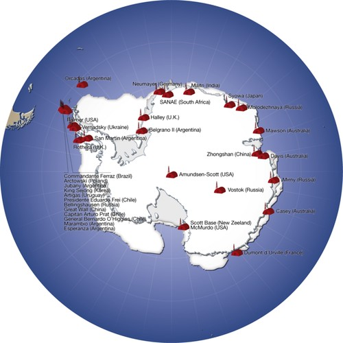 major research stations in antarctica