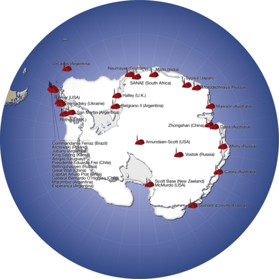 Major Research Stations In Antarctica Grid Arendal