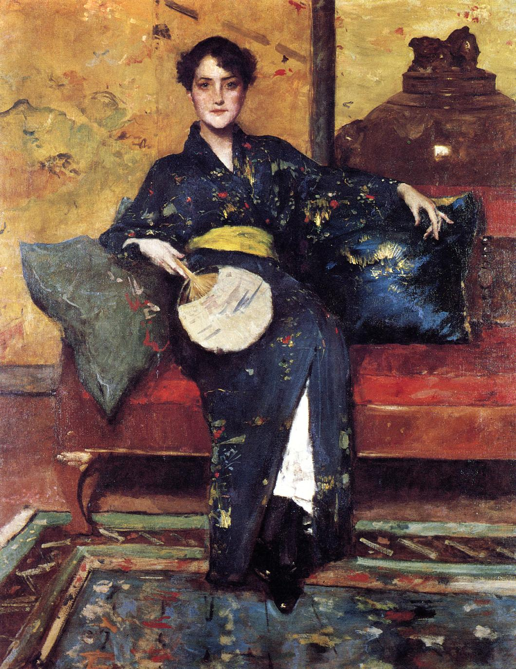 The Blue Kimono by William Merritt Chase, 1898