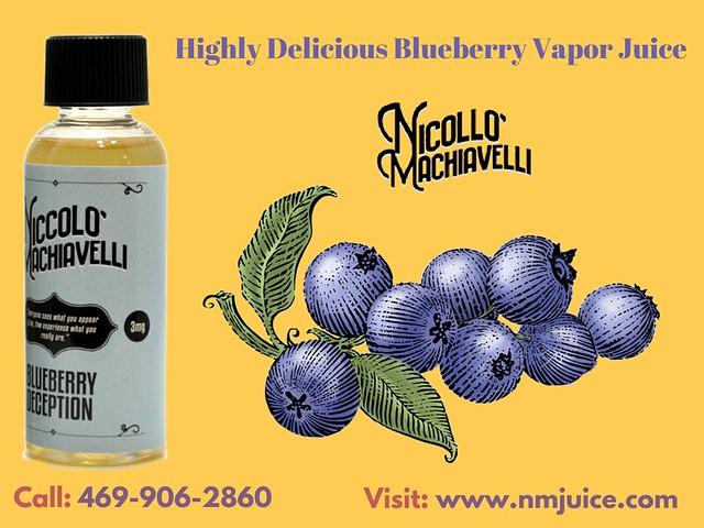 Choose a High Delicious Blueberry Vapor Juice