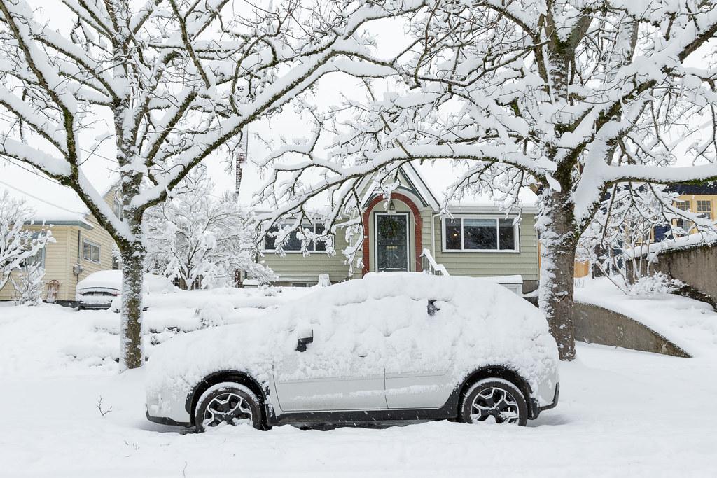 My Subaru XV Crosstrek in the snow