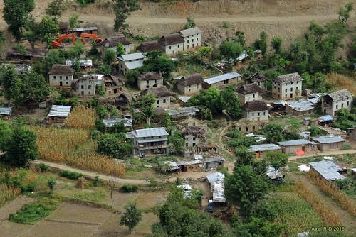 bâtimentmaison dapkha nepal préci village