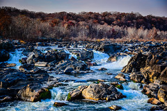 Potomac River and Great Falls at C&O Canal National Park - Great Falls MD