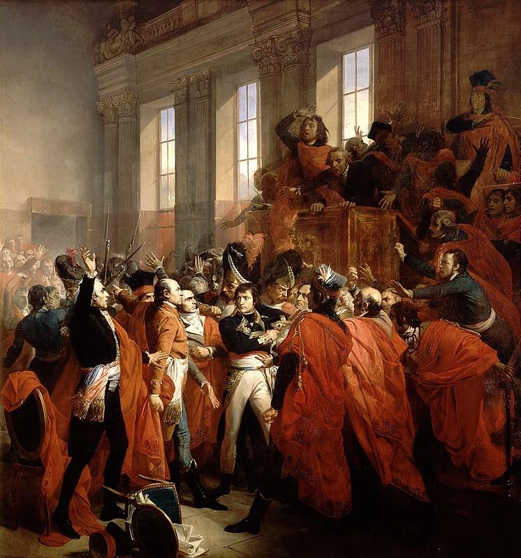 Napoleon Bonaparte in the coup d'état of 18 Brumaire in Saint-Cloud, by François Bouchot