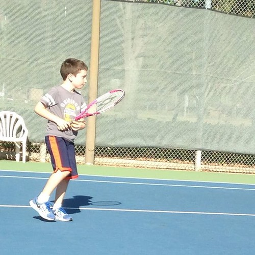 Tennis day one. Let's see if this sport takes.