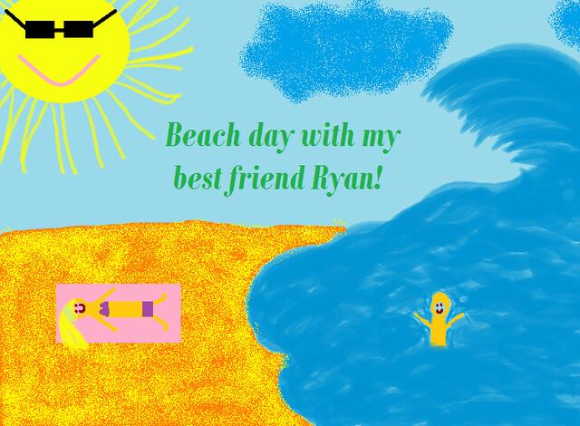 Daily Create beach day BFFL