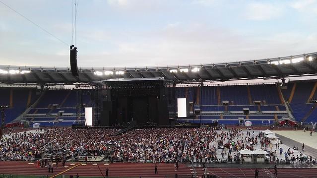 Vor dem Konzert von Tiziano Ferro im Römer Olympiastadion